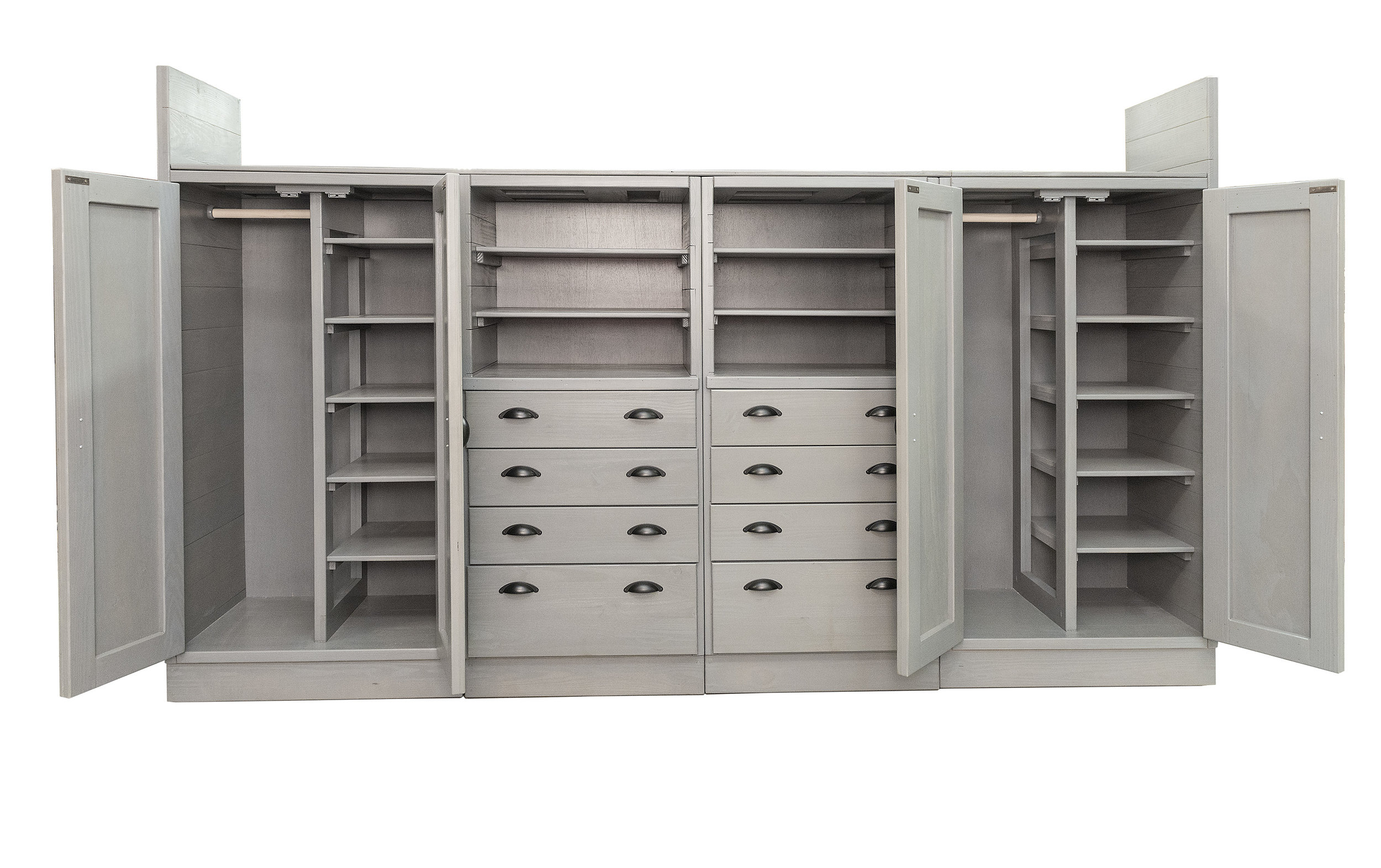 Custom clothing storage unit deisgned and built for a Residential school for children living with autism
