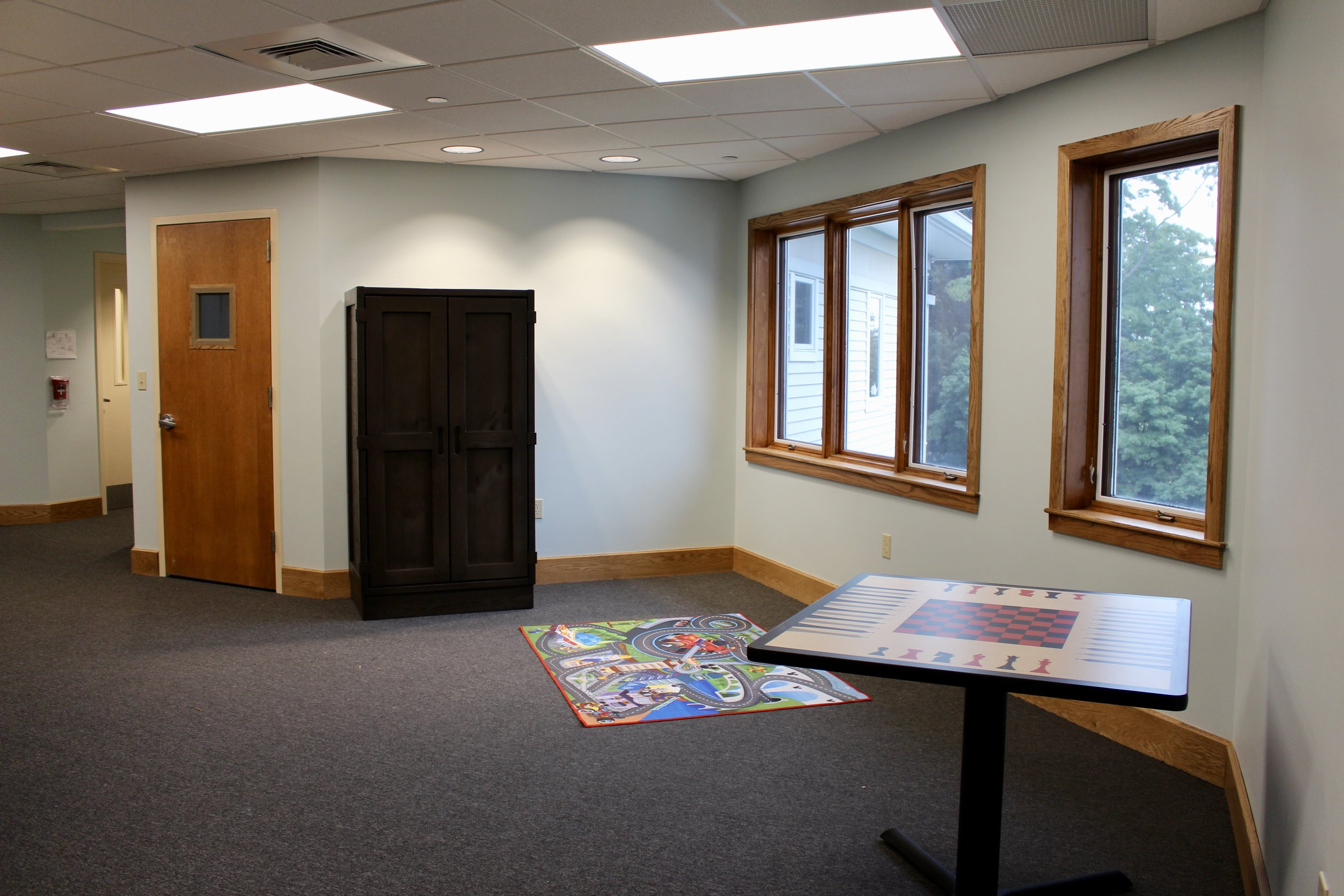 Game center/ Common space (Duet Chairs to come) Behavioral Health and Education Agency - Laminate game table Contract $364
