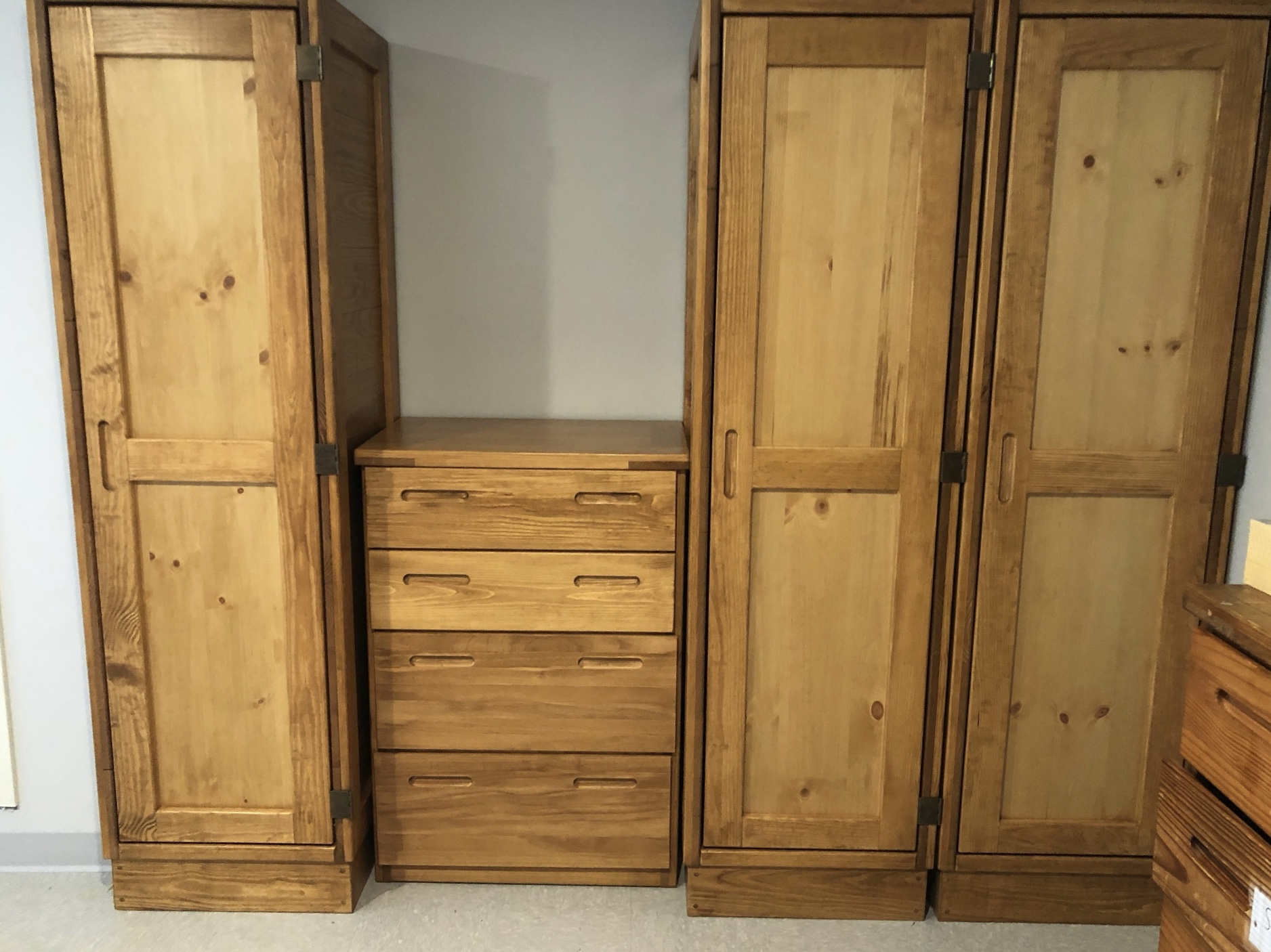 classic line single wardrobes (customized) AND 4 DRAWER CHEST Contract price $425