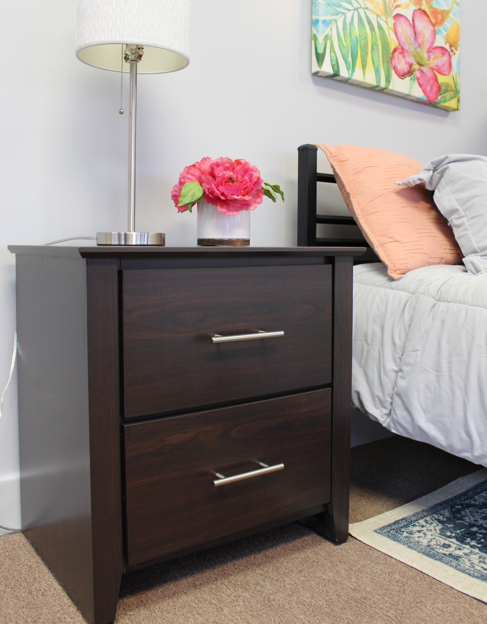 oxford Nightstand with empire bed
