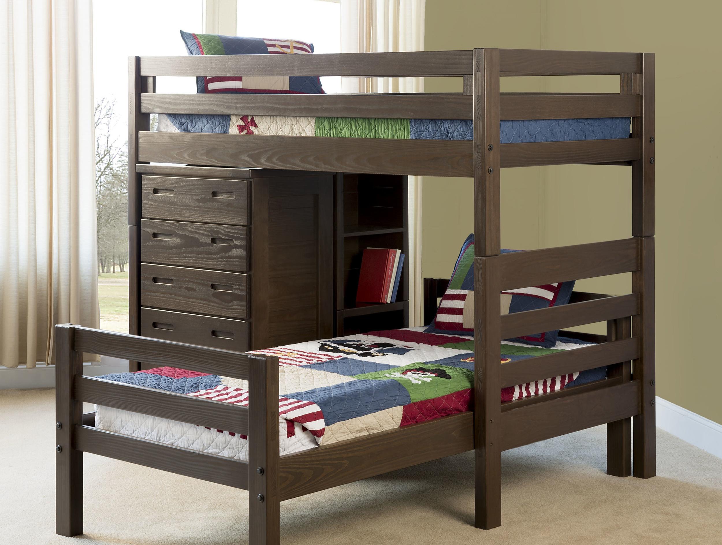 classic bunk beds in espresso