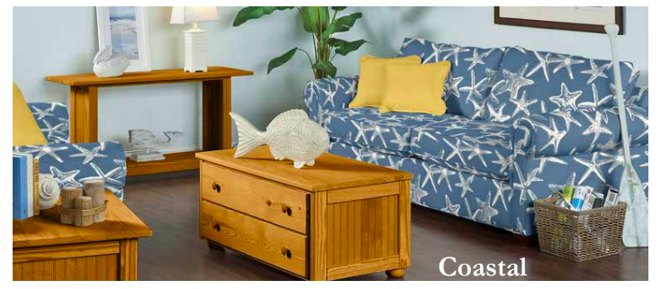 Coastal occasional Tables Contract $419 with Richmond Upholstry Sofa Contract Price $824