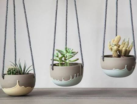 CERAMIC planters with color