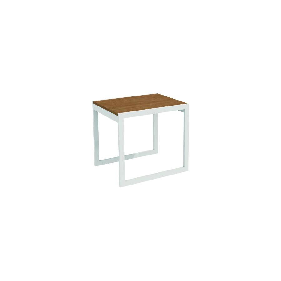 Ferrante End Table Silver Frame