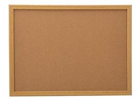 36 x 48 Cork BULLETIN with oak frame