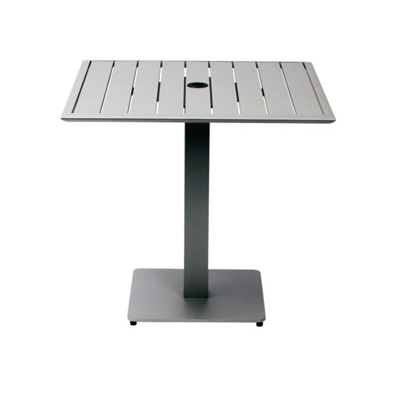 "Hampton 32"" Square Table TItanium FInish"