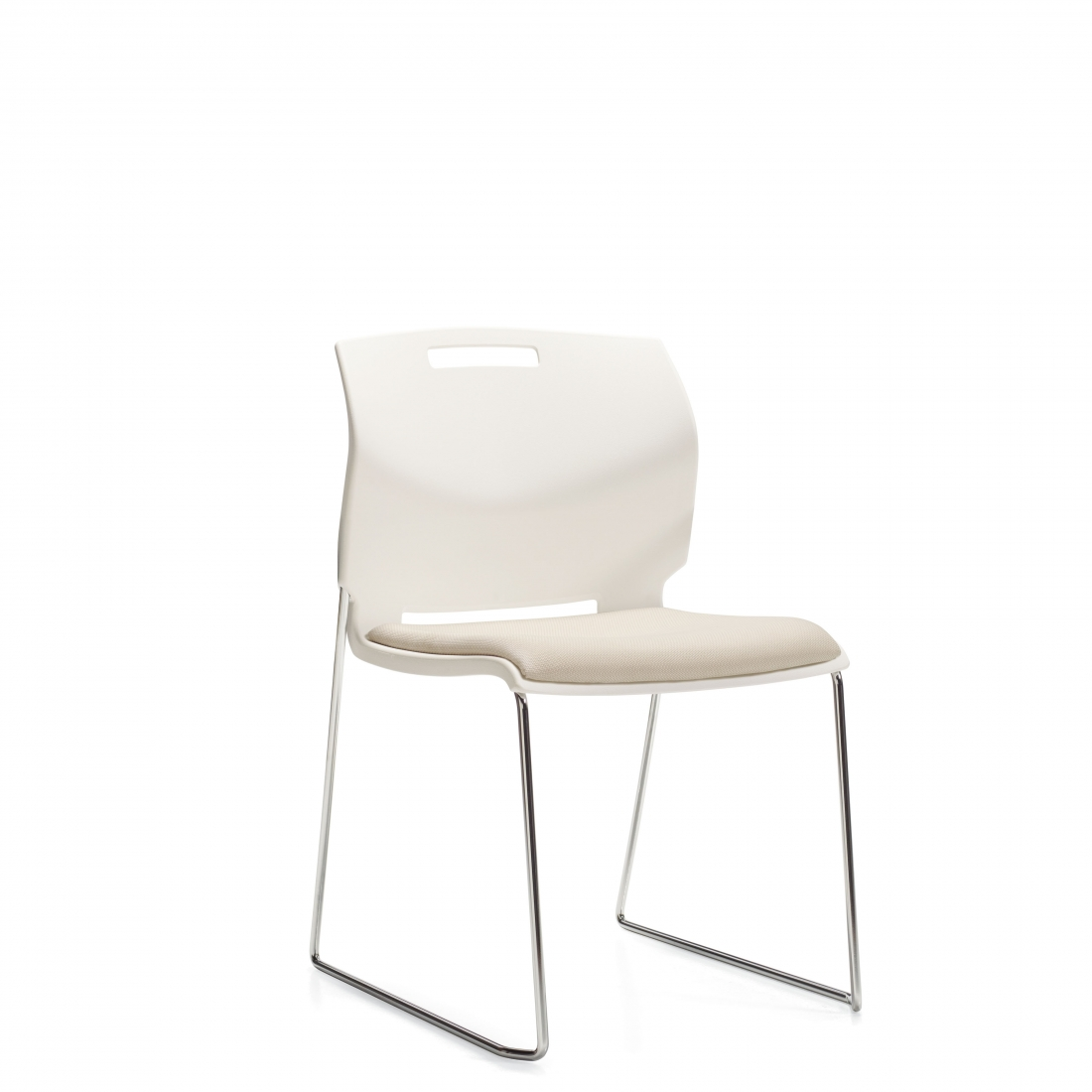 Popcorn Side Chair with Padded Seat IN cloud