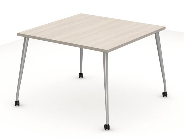 (2) Laminate Day-to-Day Table with TApered post legs (do you want these to flip or have casters?)