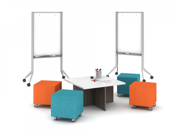 2 White Boards with Seating option A) Volker