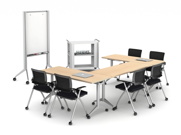 Seating option B) (2) Flip Top Tables 18x60 with 4 Stow On Casters