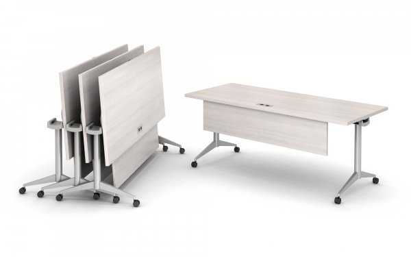 2 flip top tables (option for outlets and privacy panels)