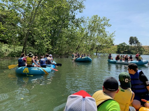 Rafting down the Feather River!