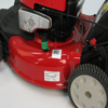 Troy-Bilt push mower - Located on the deck shell.