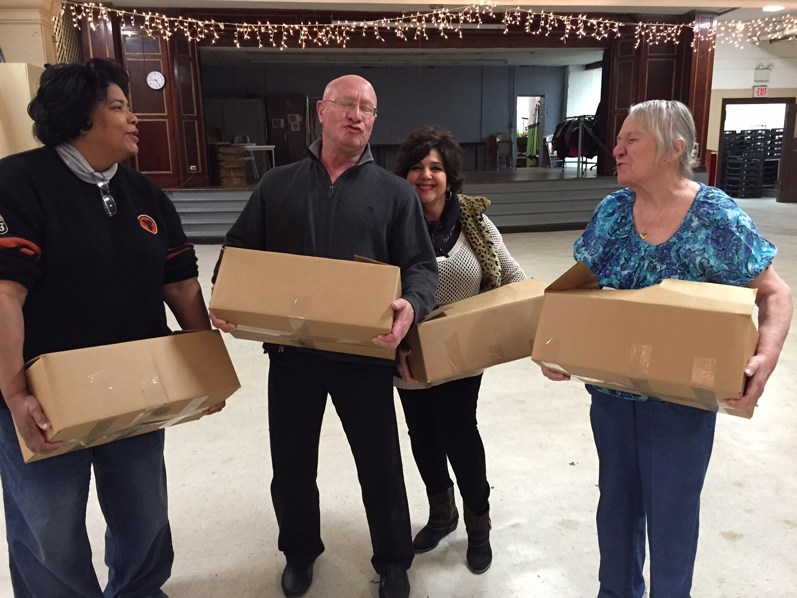 IMG_1271-2.JPGKaren Hazard, Paul D'Abbraccio, Maria Berarducci and Sylvia Peckham   Volunteering at St. Vincent DePaul Ministry the day before Thanksgiving 2015.JPG