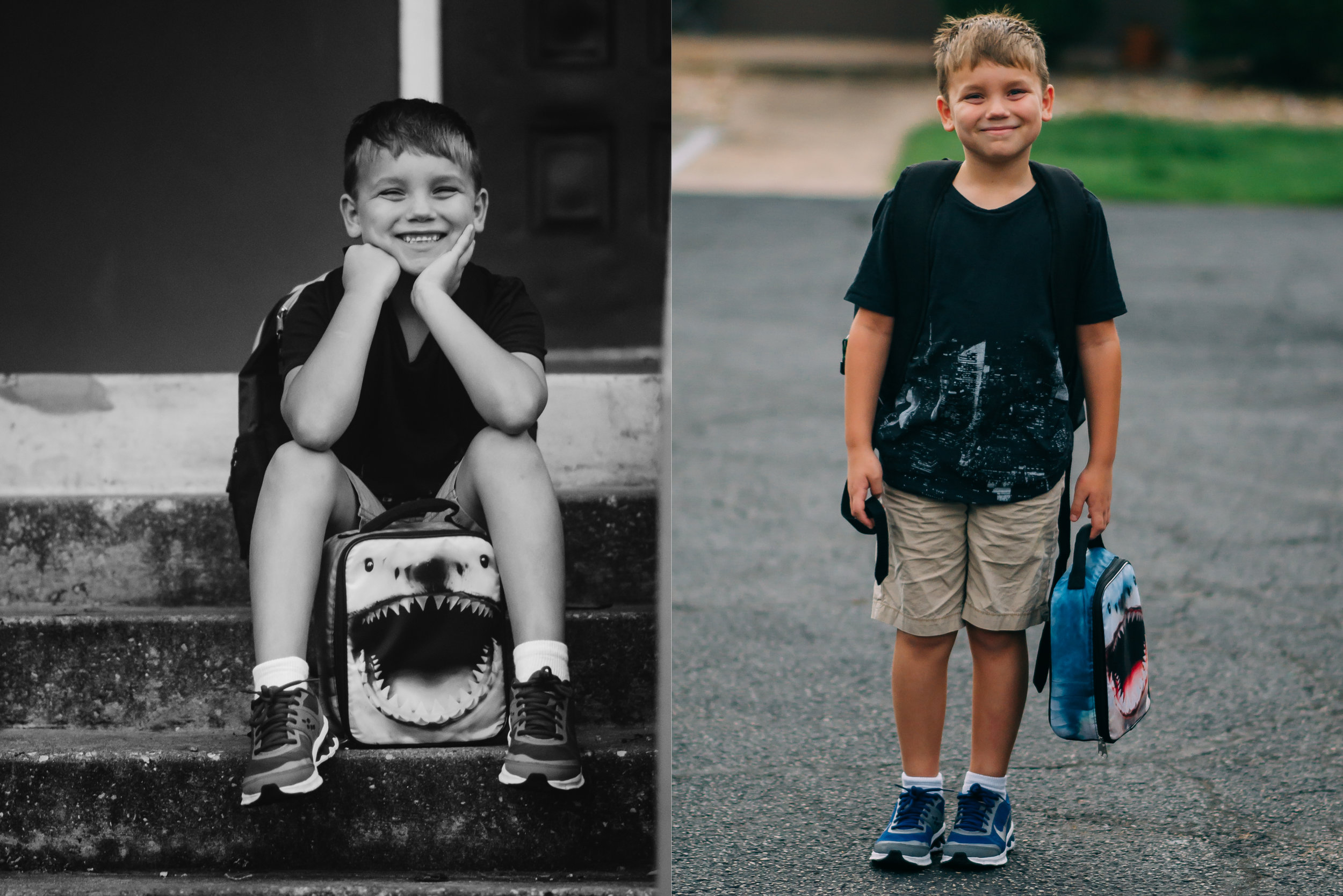 Christian's first day of second grade.