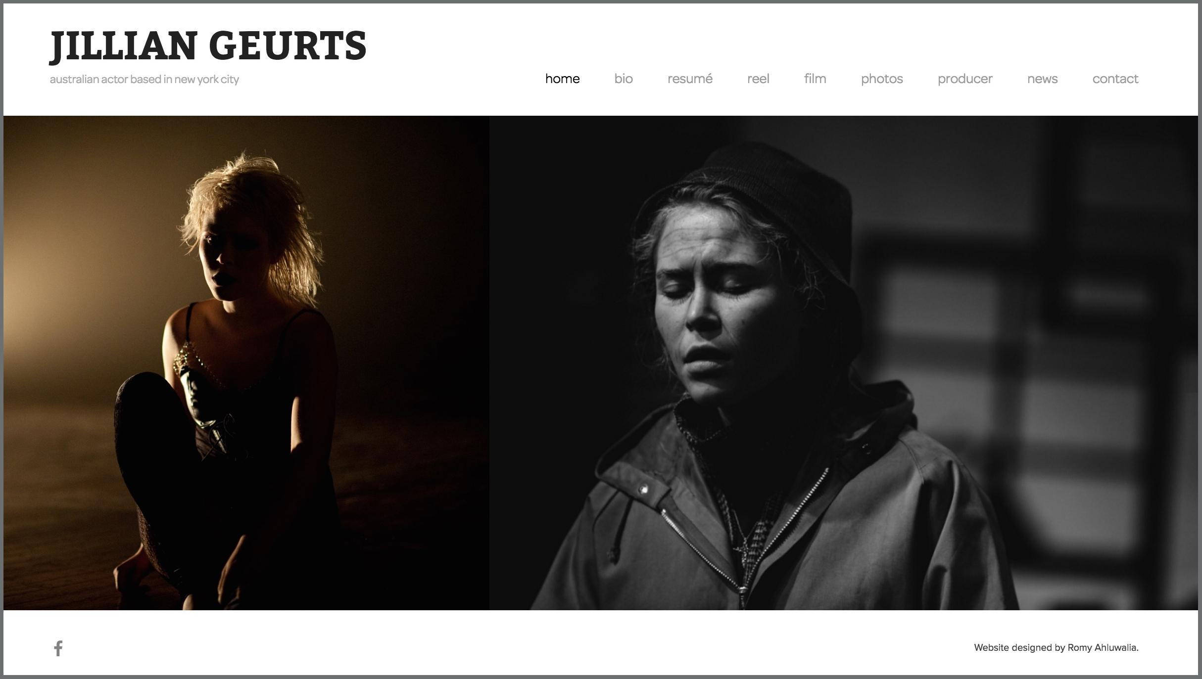 JILLIAN GEURTS / actress