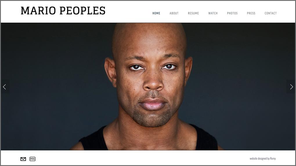 MARIO PEOPLES / actor