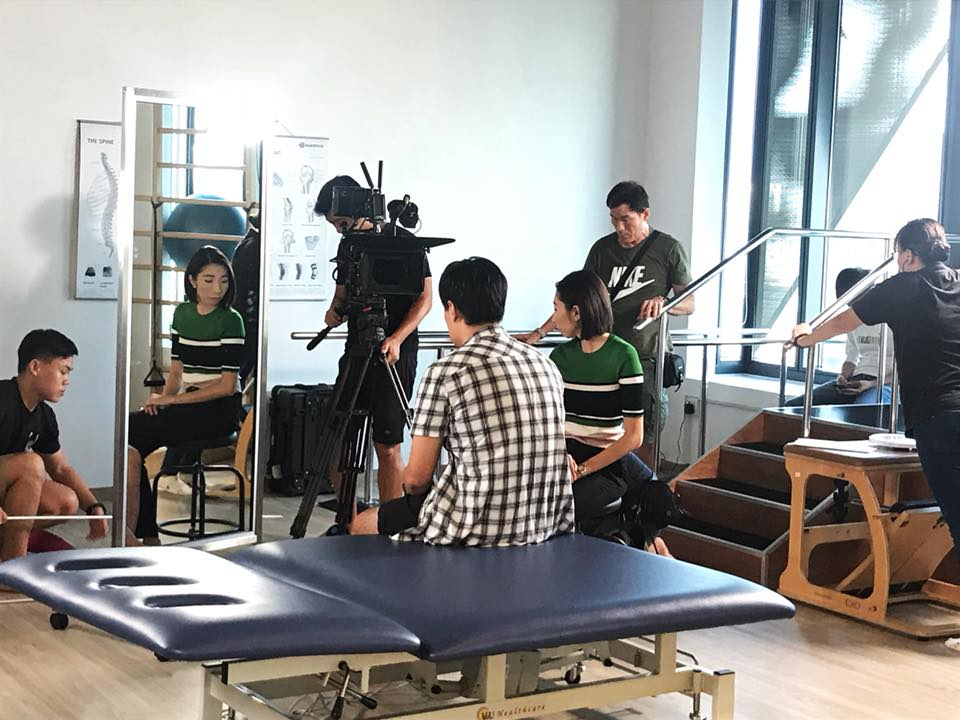 Filming for Channel 8 drama 'Reach for the skies'    So excited for this opportunity to finally bring Speech Therapy to mainstream TV!