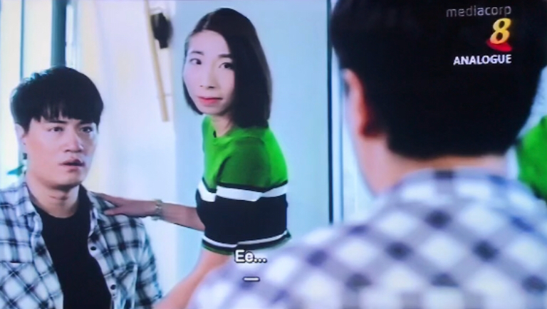 The scene where the main character regains his voice after voice therapy.    Thank you Mediacorp for this opportunity to showcase Speech Therapy on Channel 8!