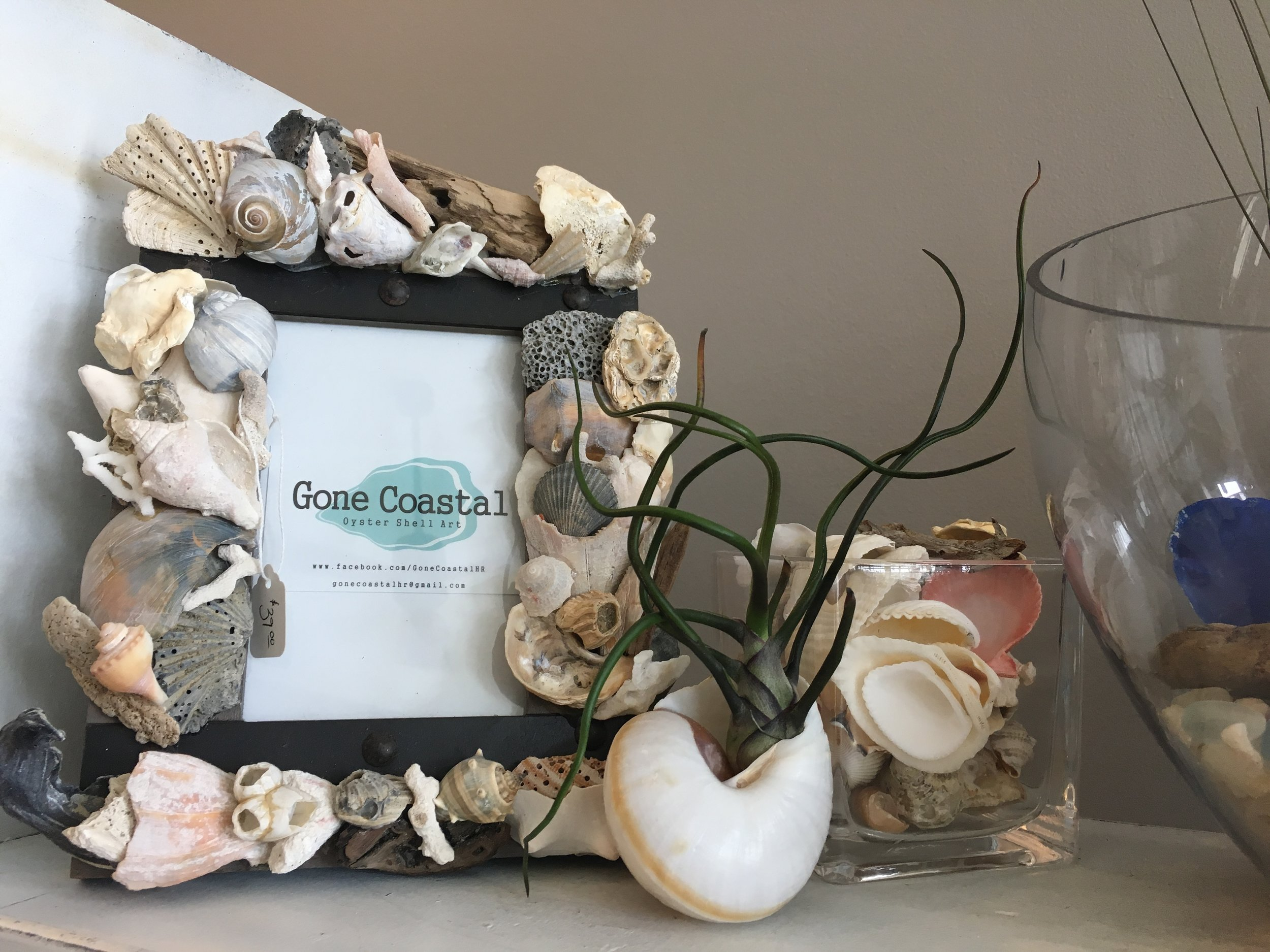 Gone Coastal - Beautiful hand-made shell Items perfect to compliment any home or office.