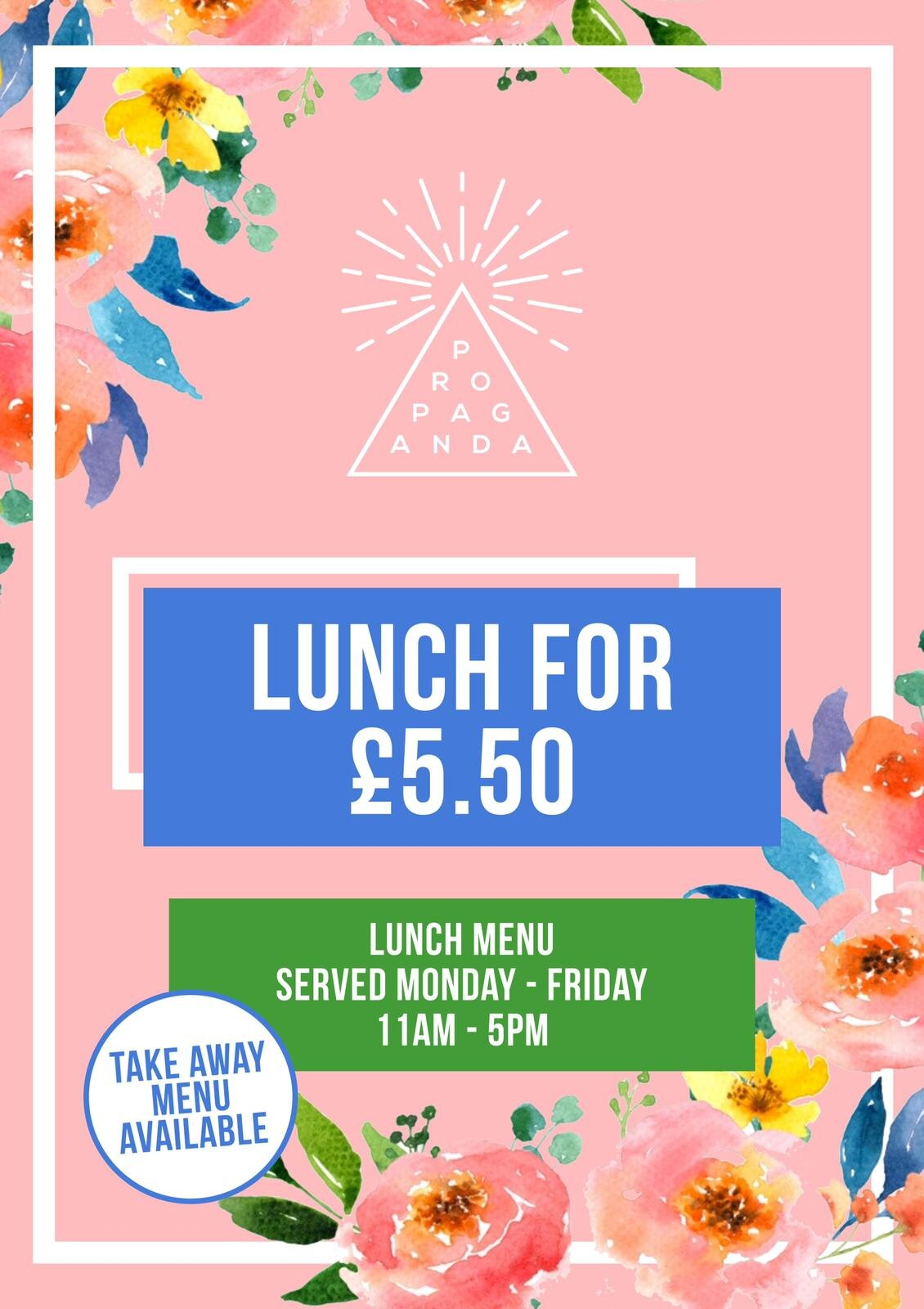 Lunch From £5.50 - Monday - Friday