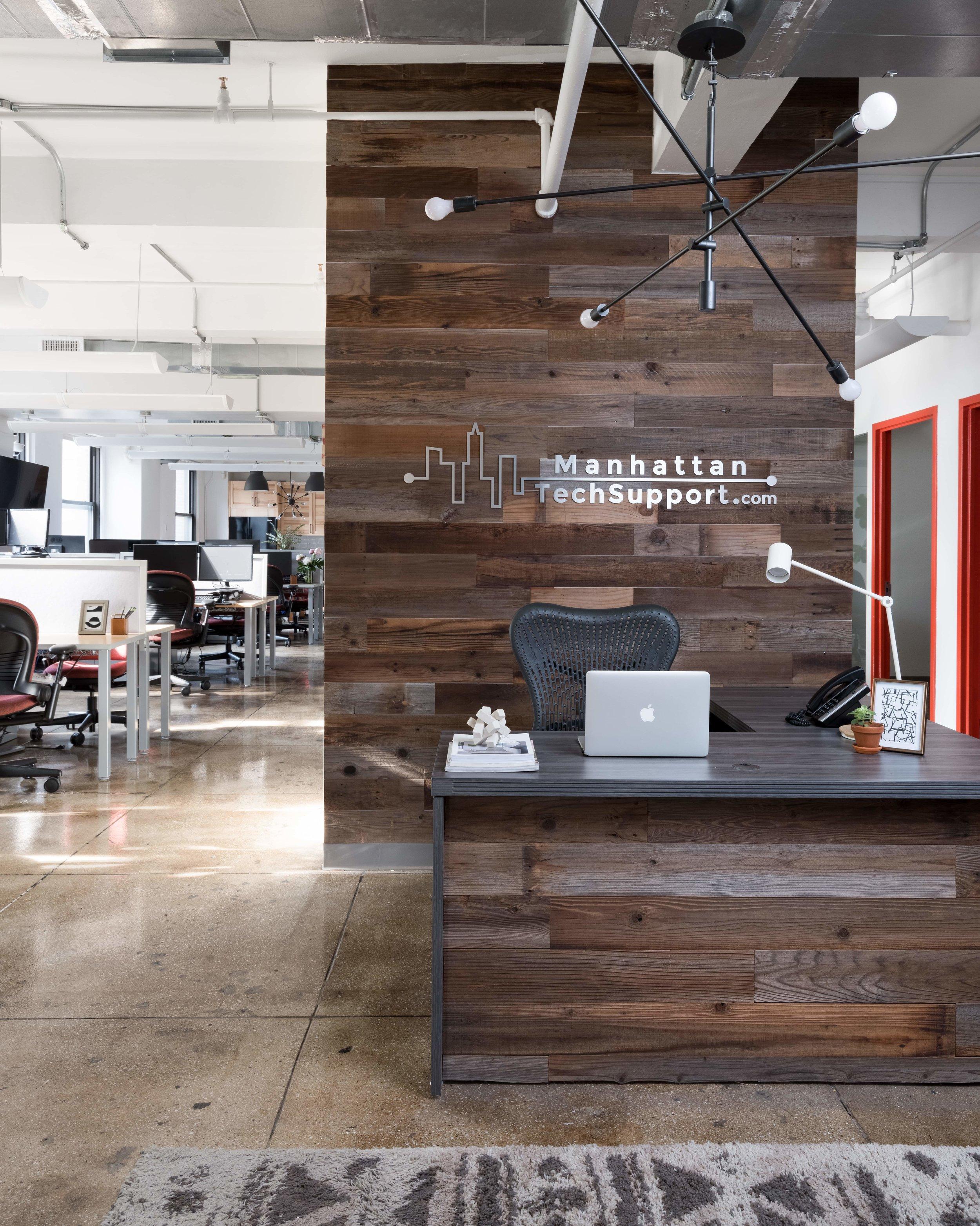 industrial office interior design by Lorla Studio NYC