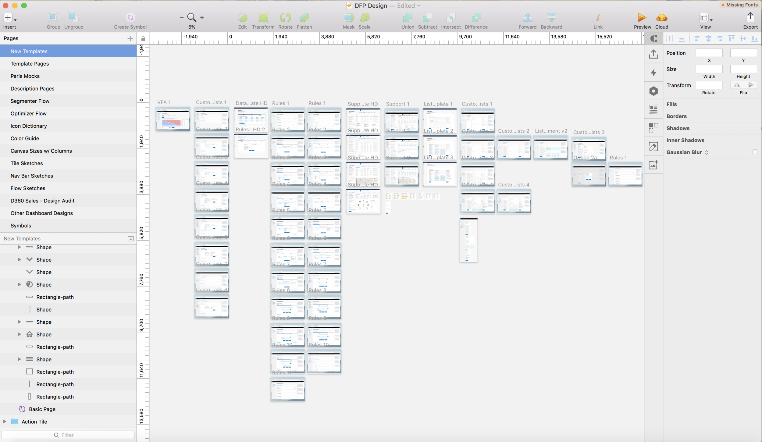 Compiling mock flows in Sketch, which is often faster than my other tools like XD or Figma.