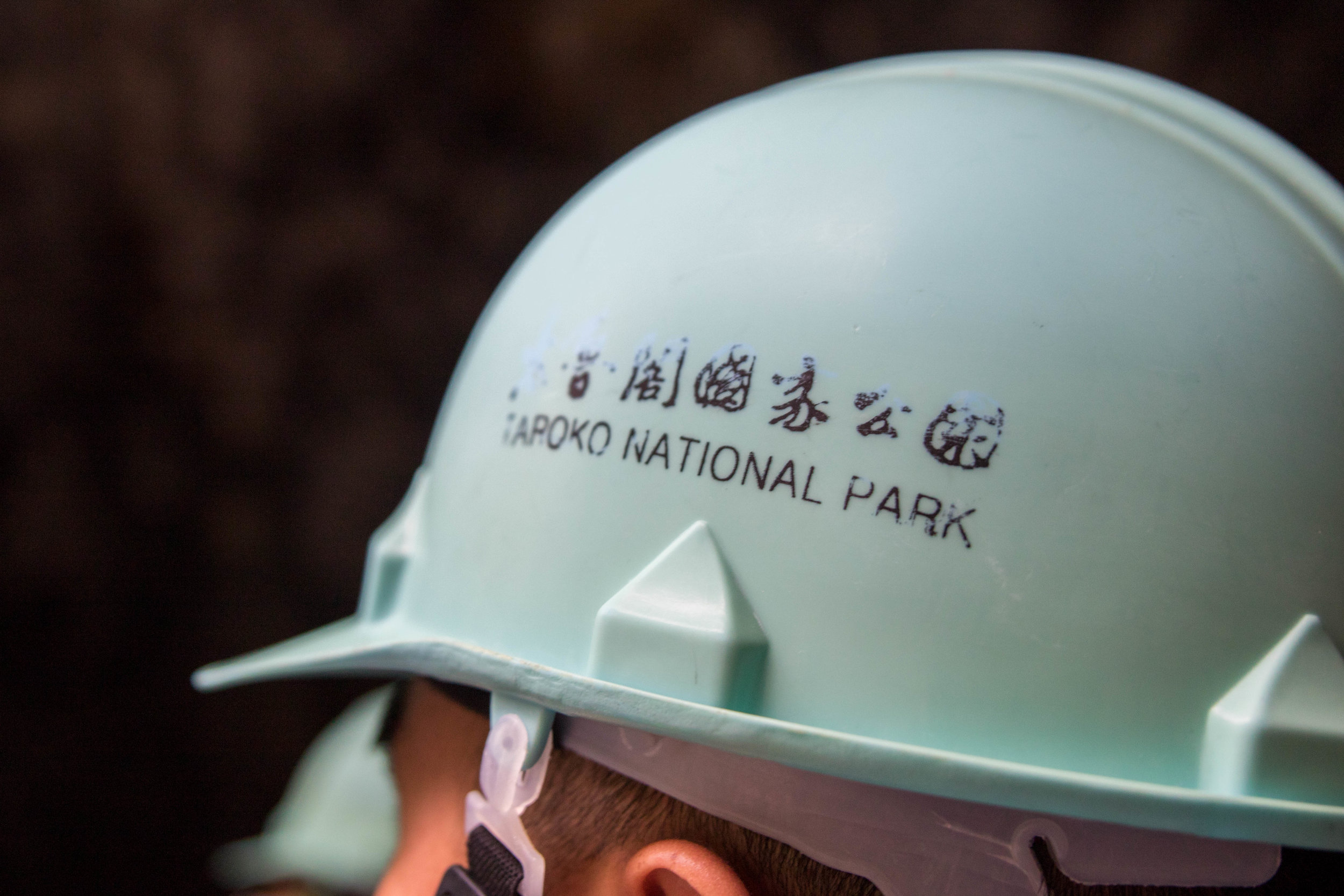 We got these nifty hardhats to protect our tiny heads from rock slides