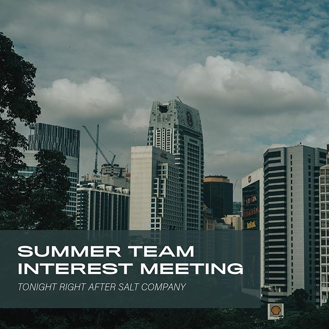 Interested in being on a summer team? We have an info meeting after Salt tonight and would love to help answer your questions! • Nick Anderson is also teaching out of John 10 in the third part of our I AM series tonight. We'll see you at 8pm at Candeo!