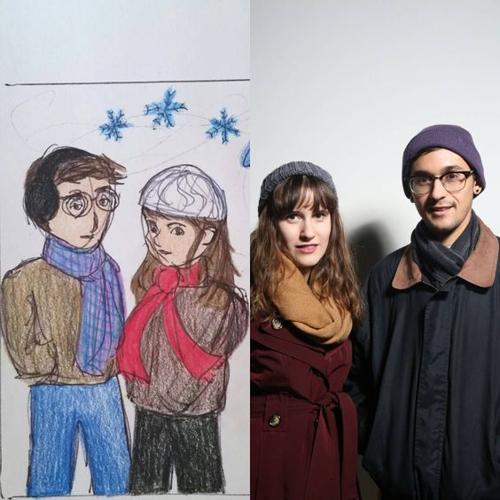 Feb 13. Another drawing/photo comparison