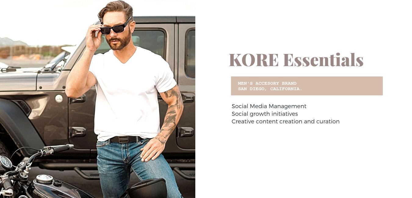 Kore Essentials Karley Rogerson Including men's ratchet & track. kore essentials karley rogerson