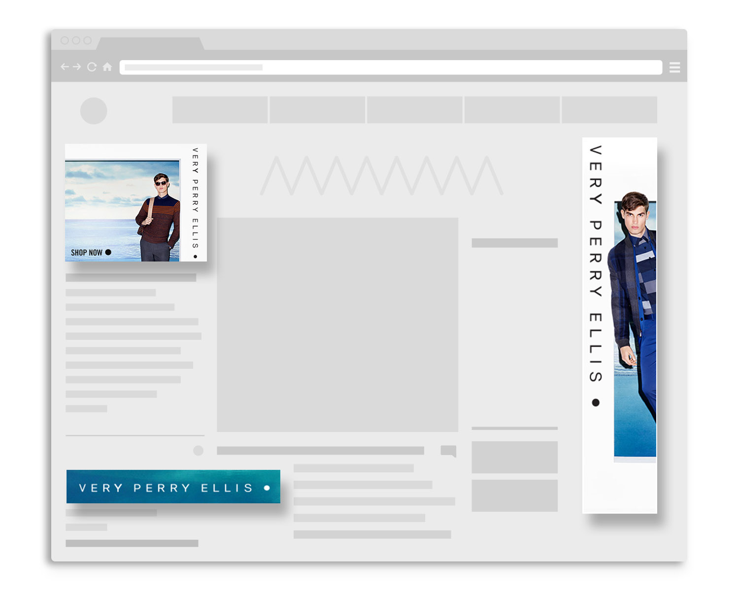 Resizing and cropping products for digital ad banners that required call-to-action.