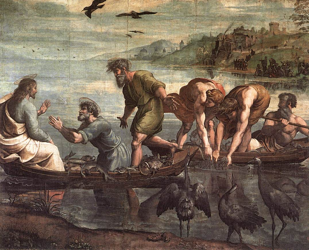 The Mysterious Draught of Fishes , Raphael