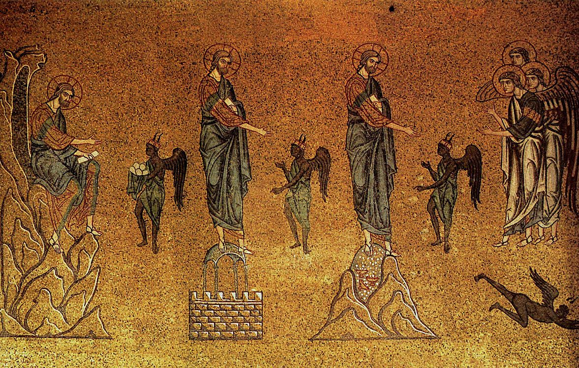 Temptation of Christ , St Mark's Basilica, Venice, 12th-century mosaic