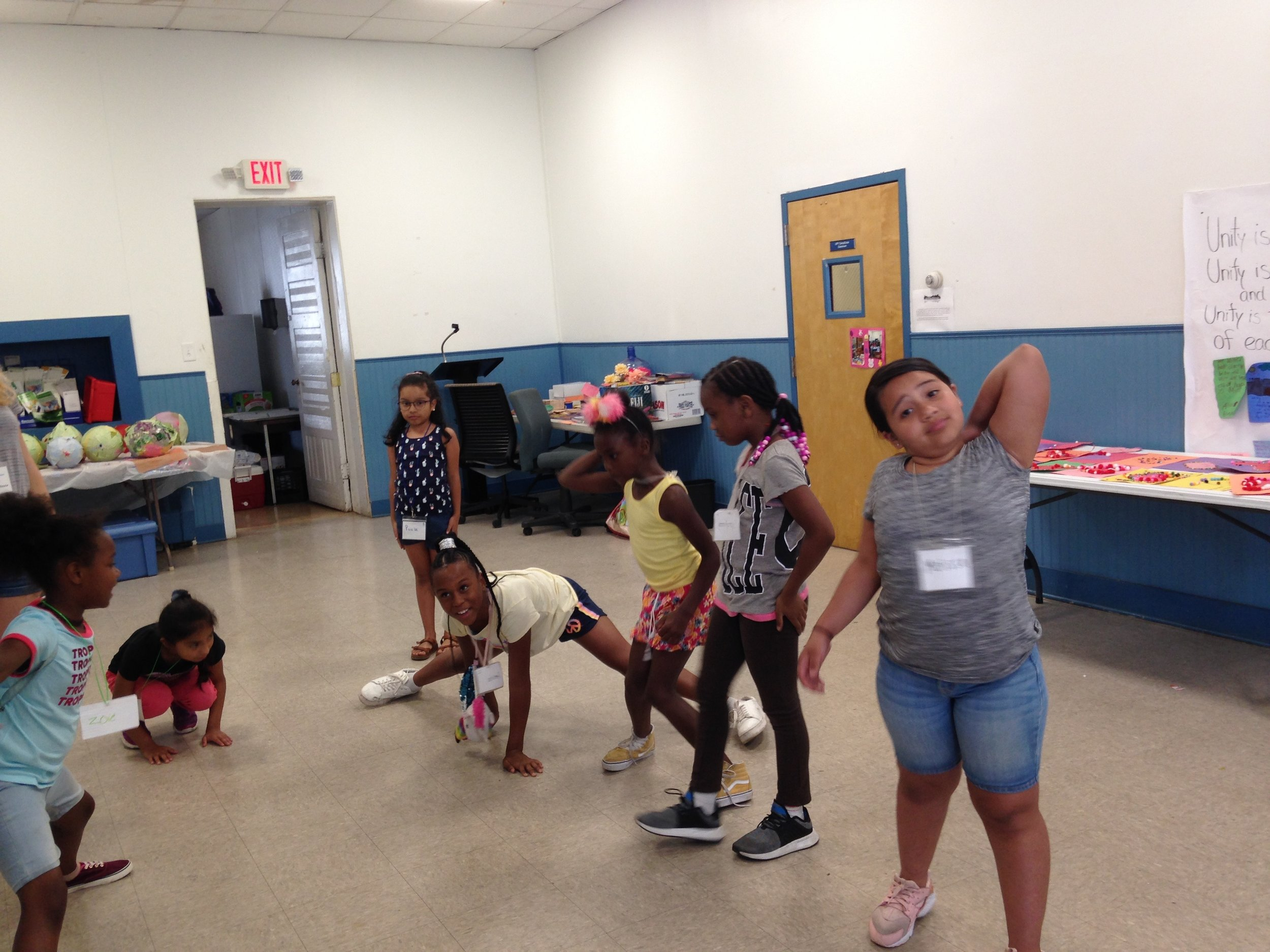 The campers shared their understanding of the stories through their art and actions!