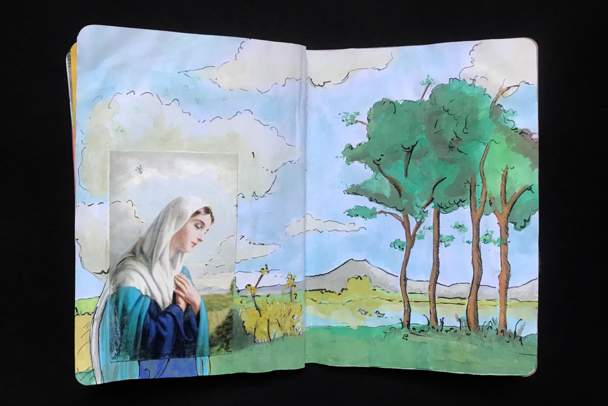 Collage/watercolor/ink, The Sketchbook Project