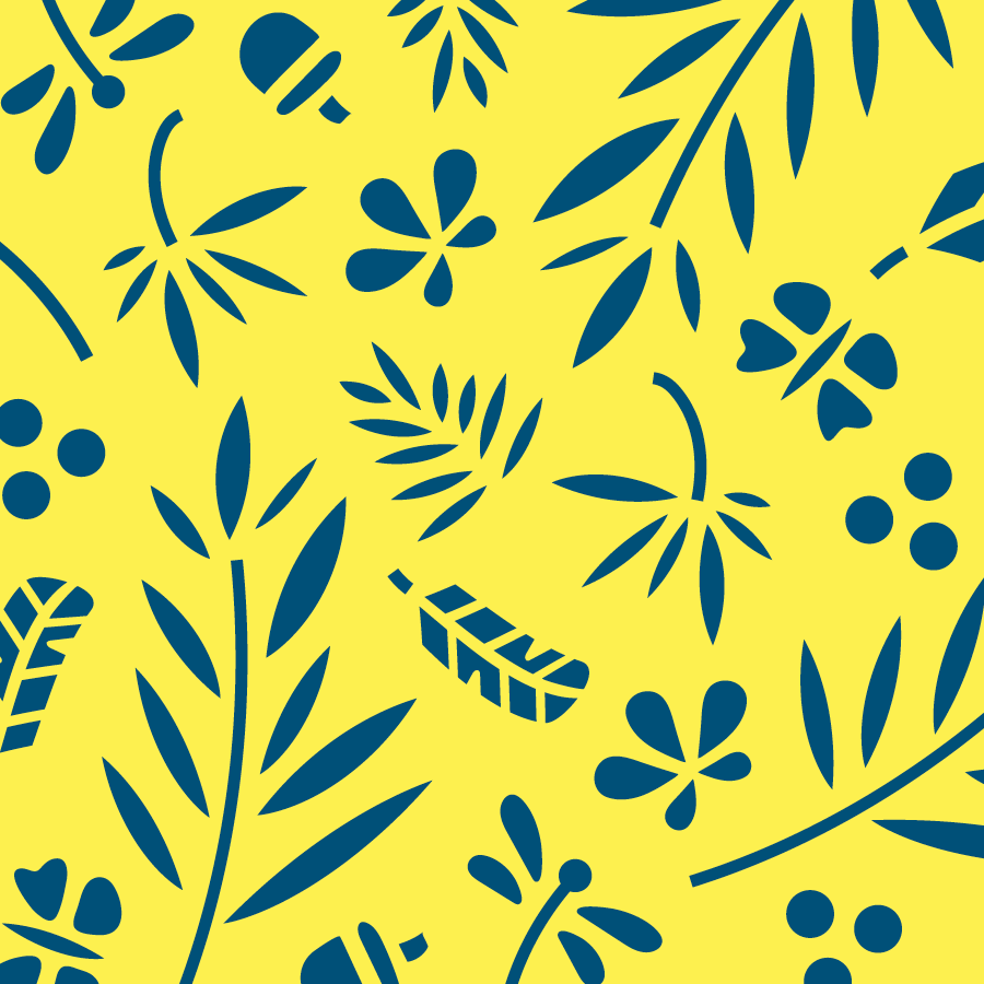 Botanical pattern for Wild & Rare, an accessories company that supports conservation efforts