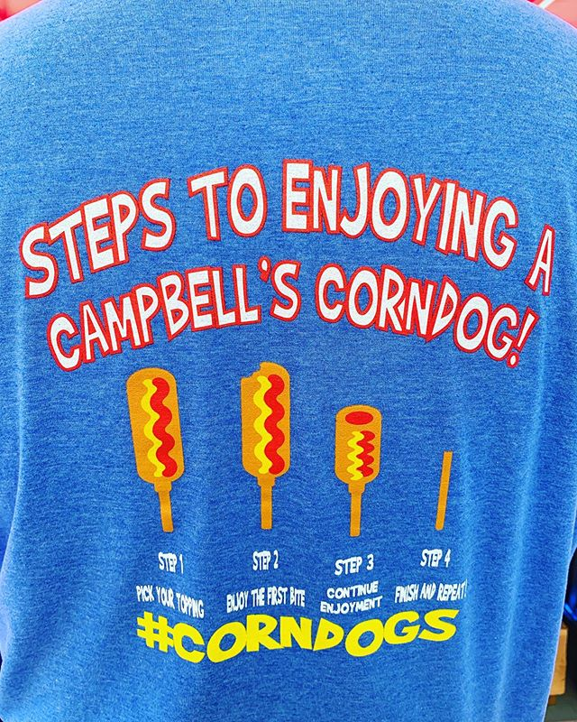 Come stop by at the #minnesotastatefair.  We are in front of the education building!!! #corndogs #lemonade #minny
