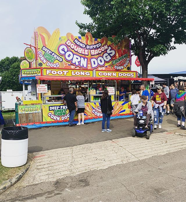 We are opened for the last weekend of the #minnesotastatefair!! It's also the opening weekend for #isu football!! Stop by and grab a corndog before they run out