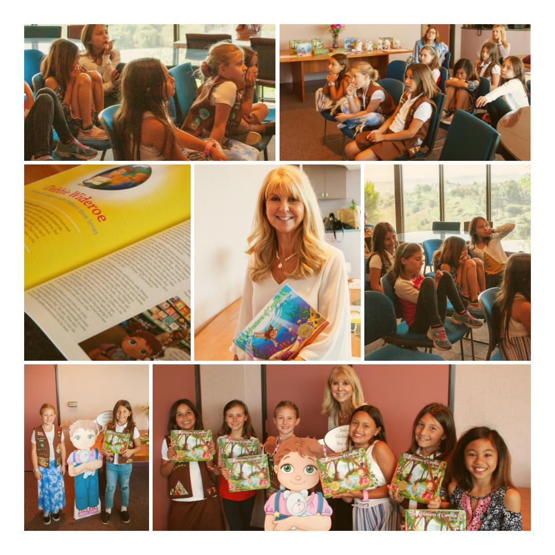 Girl Power…a Summer Day with Girl Scouts! - Such a wonderful day spent sharing the world of Camellia N. with these bright and inquisitive girls!  They fell in love with Camellia N. and her friends and just couldn't wait to read all of the books.  I was impressed that these pint-size leaders actively recycle and embraced all of my tips for helping the environment.  Together they are committed to educate others and make a difference in our planet!