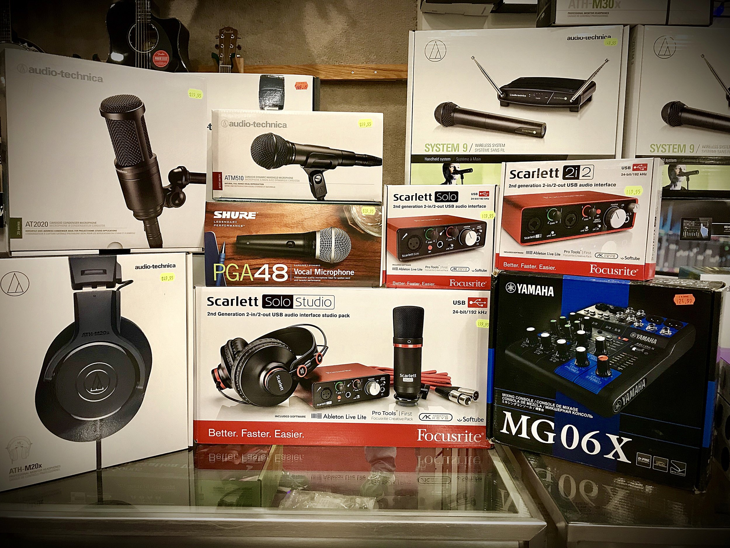 Do you hear what I hear? If not, visit JW Music and improve your audio interfaces!