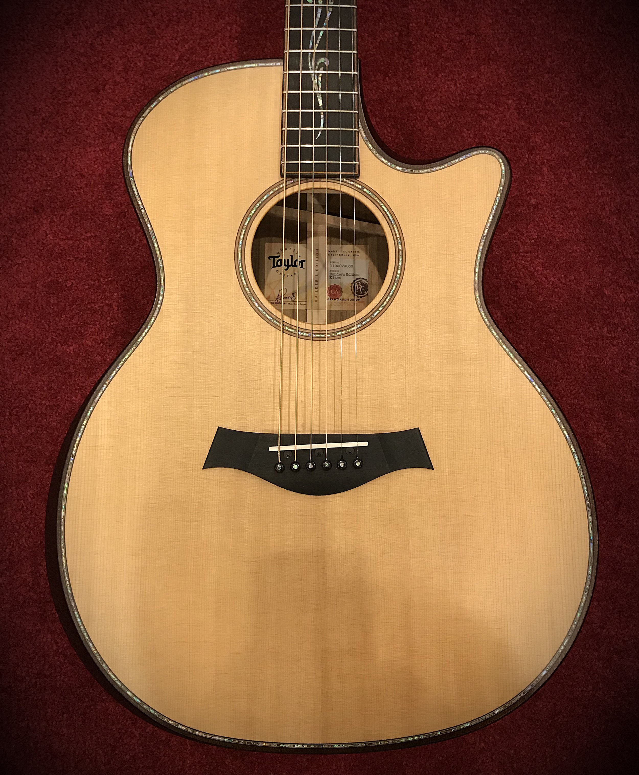 "Taylor Builder's Edition K14ce - Featuring Taylor's new ""V-Class Bracing"" and much more!"