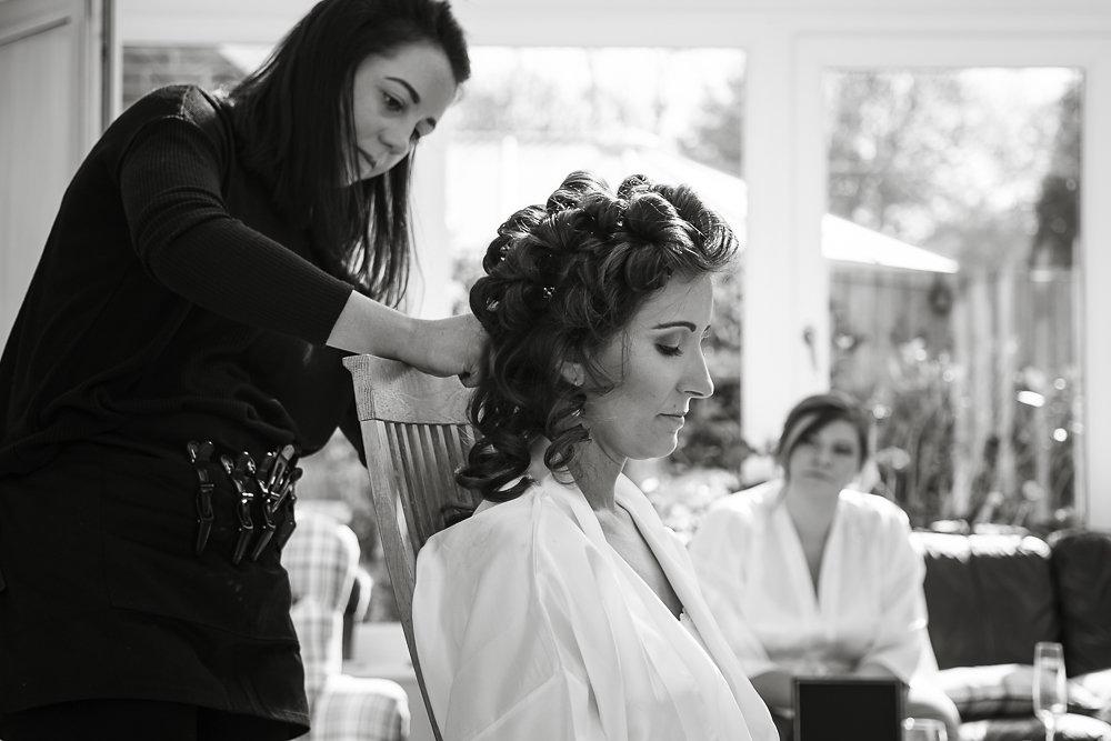 Olivia wedding hair prep