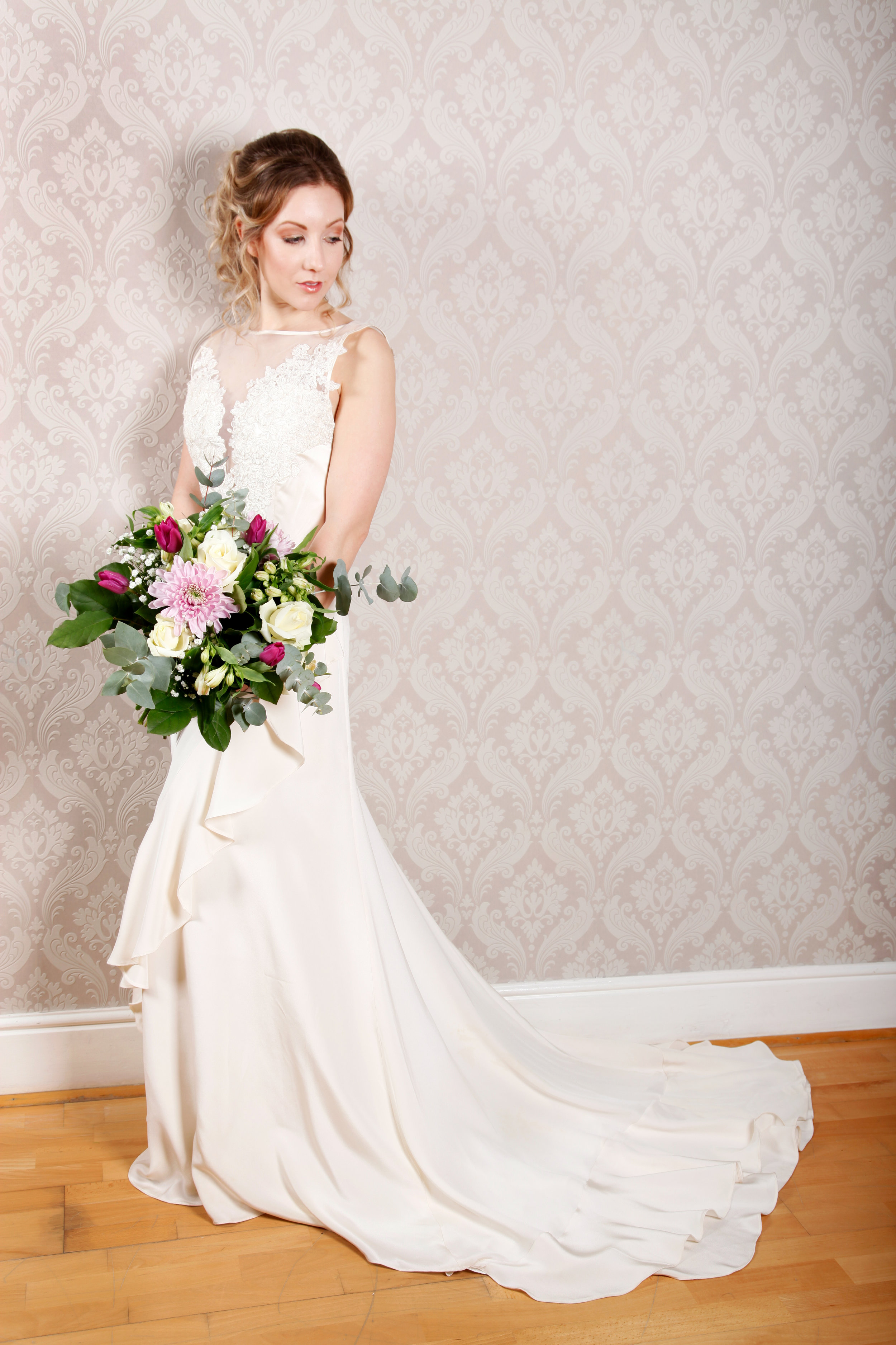 Bridal shoot, full length wedding dress