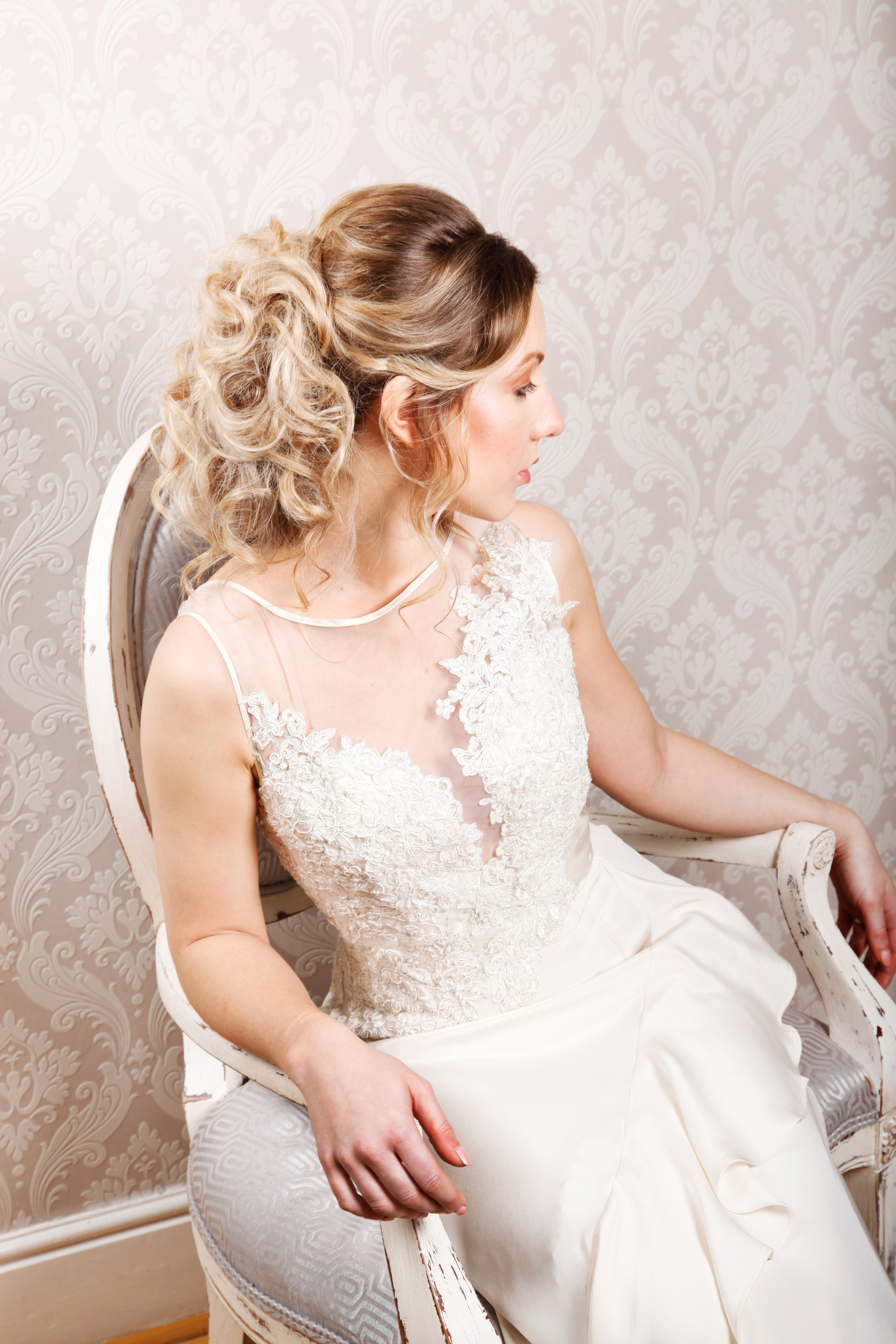 Bridal shoot hair detail