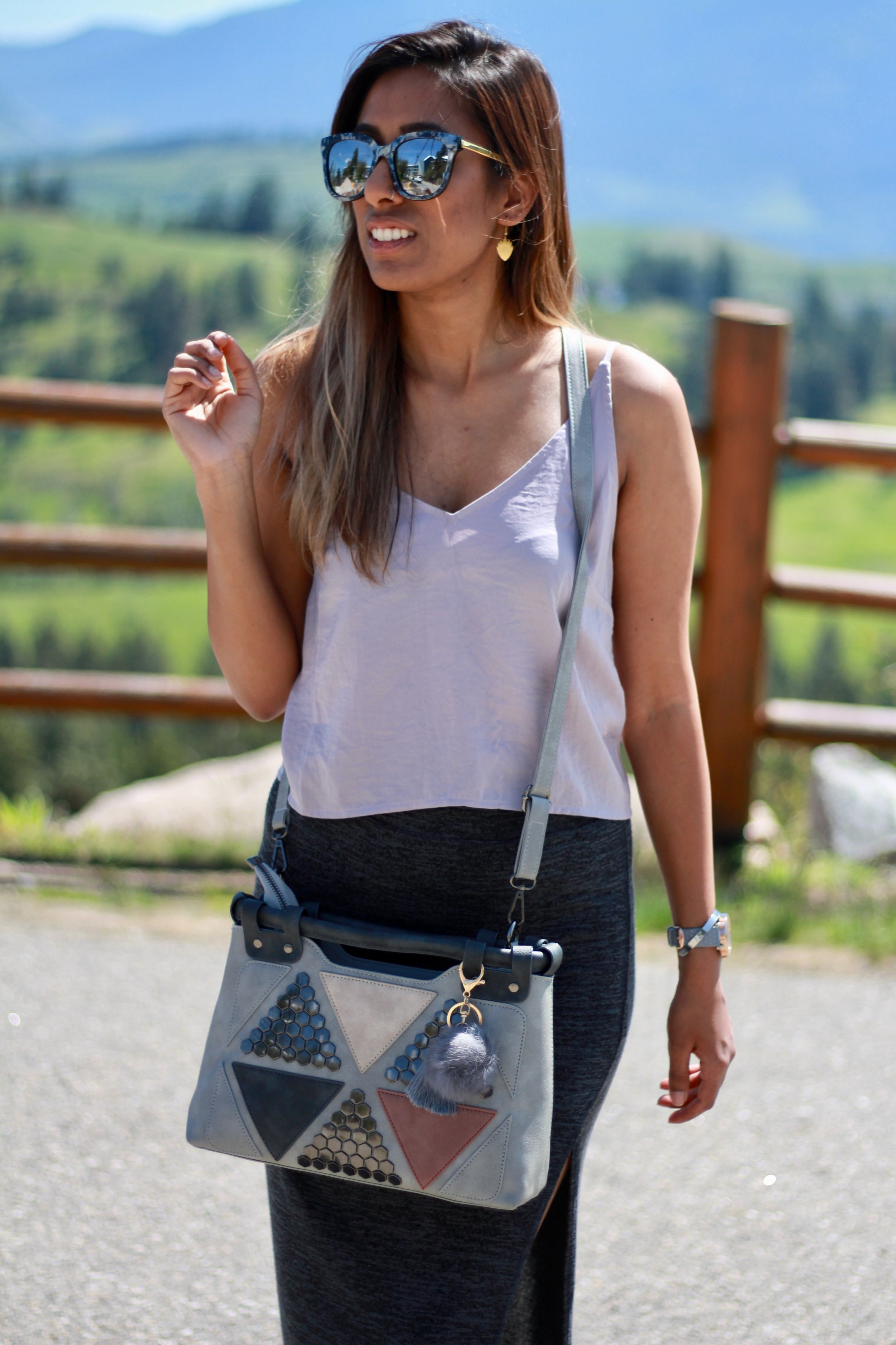 purse sunglasses sunshine