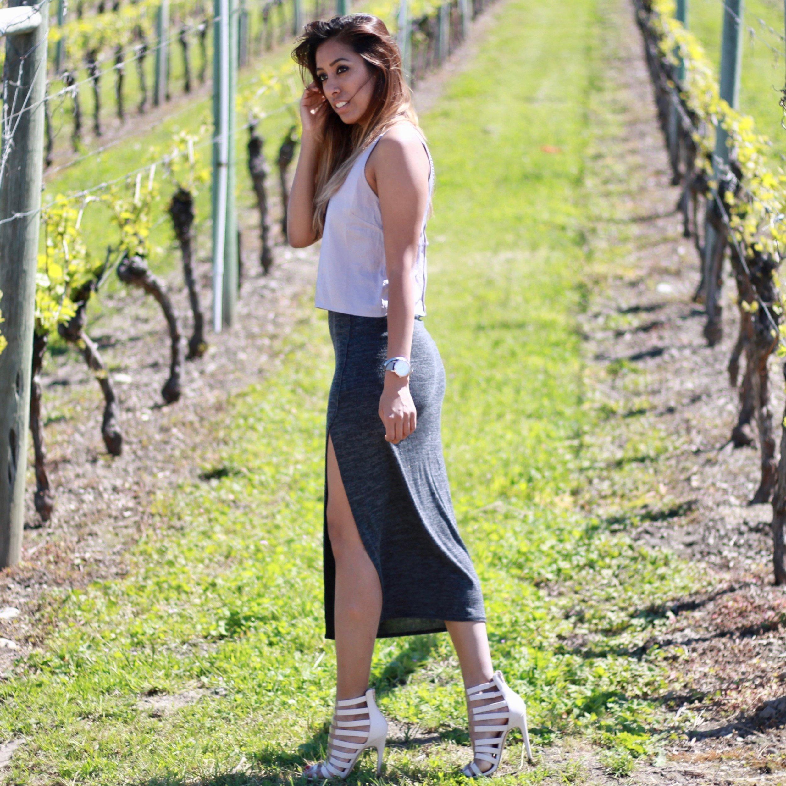 Vineyards skirts heels