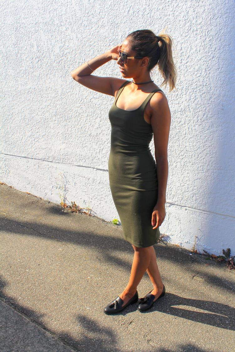 Green tank dress