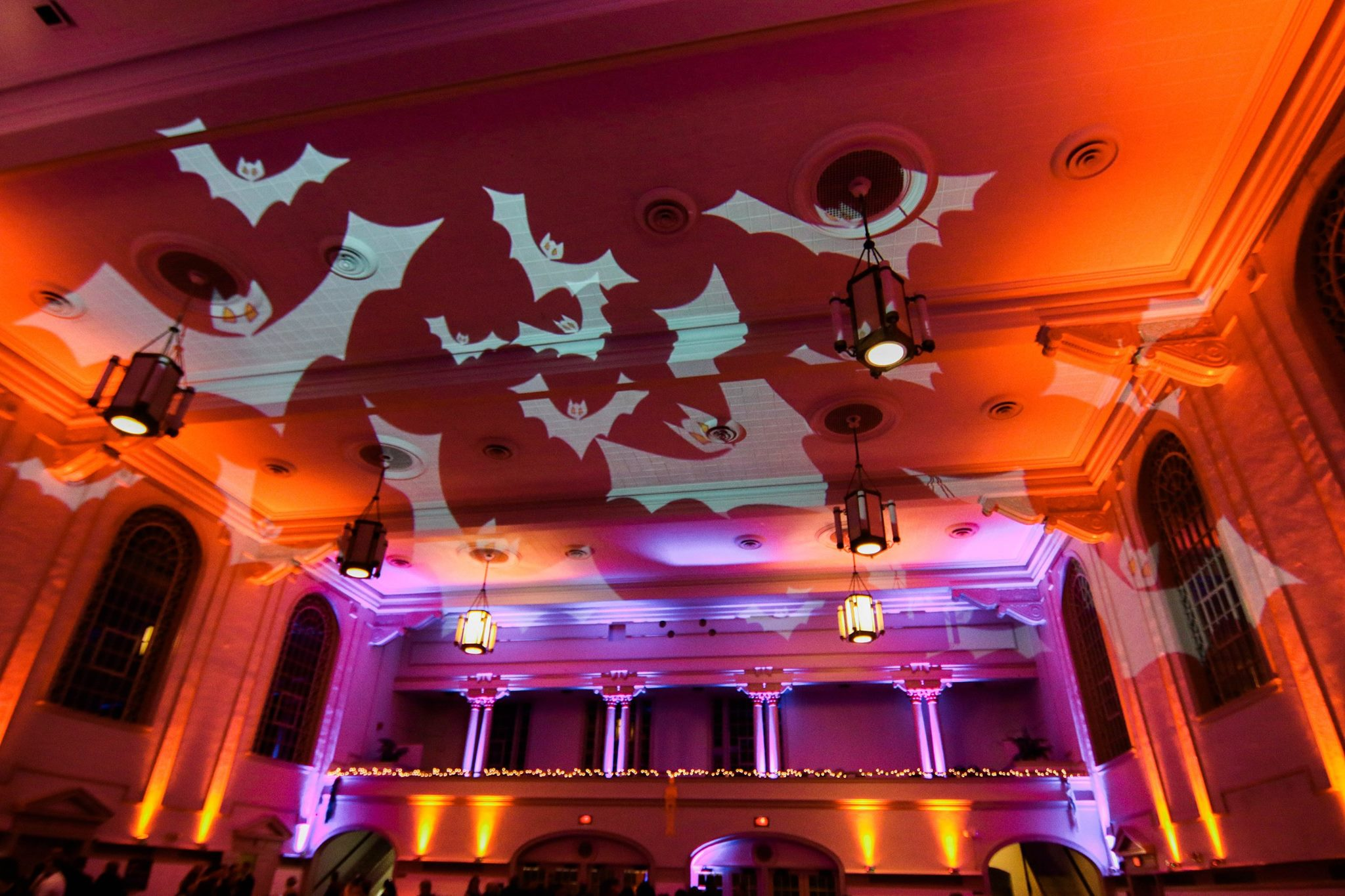 Harro East Uplighting Halloween Wedding www.tmpdj.com