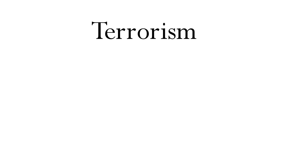 Terrorists Cause Harm and Disbelief and Division